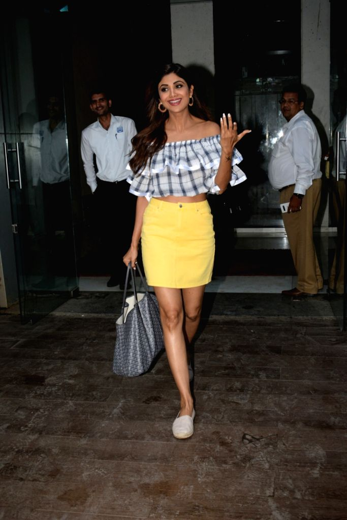 Actress Shilpa Shetty seen in Mumbai on June 13, 2019. - Shilpa Shetty