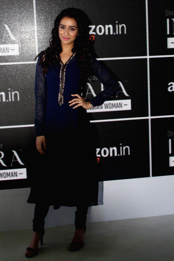 Actress Shraddha Kapoor at Amazon India Fashion Week in New Delhi, on March 25, 2015.