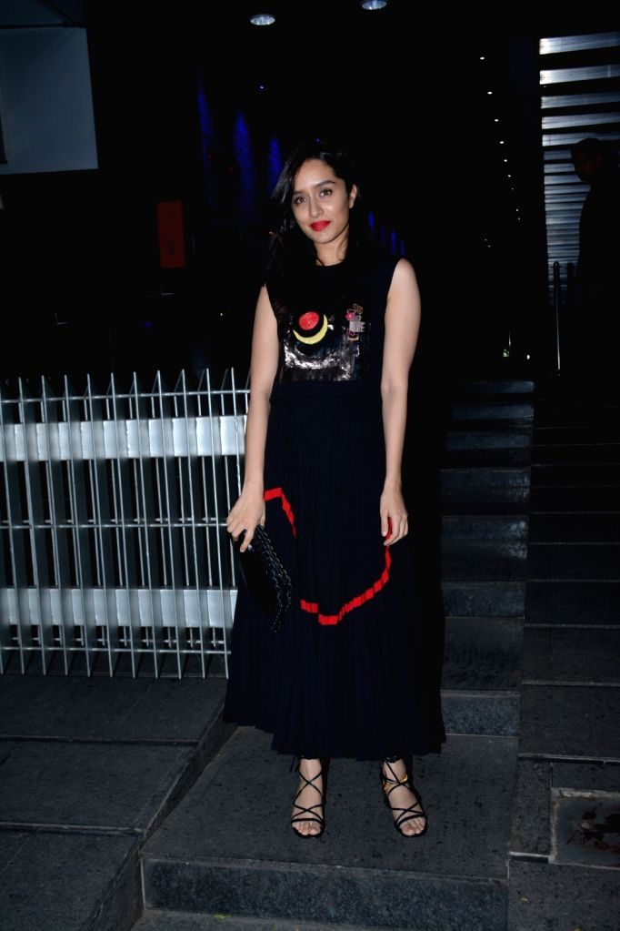 Actress Shraddha Kapoor at the actress Padmini Kolhapure's birthday party in Mumbai on Nov. 1, 2018. - Shraddha Kapoor