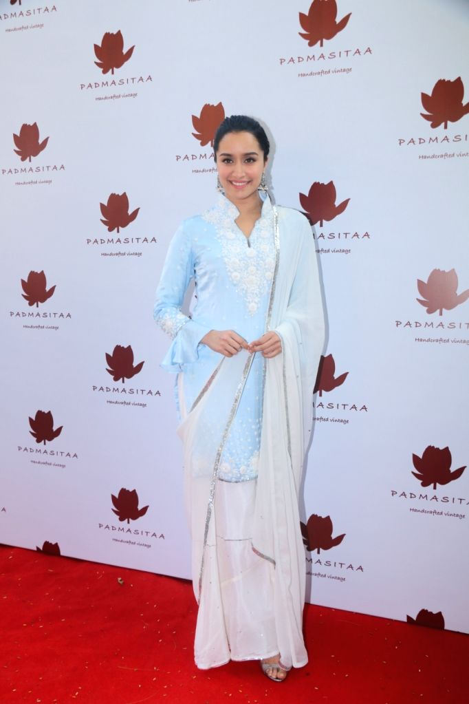 Actress Shraddha Kapoor at the launch of Padmasitaa clothing collection in Mumbai on Jan 25, 2018. - Shraddha Kapoor