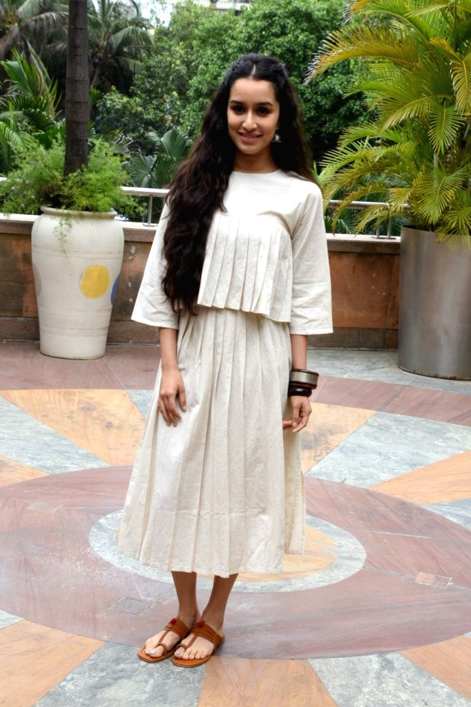 """Actress Shraddha Kapoor at the promotion of her upcoming film """"Stree"""" in Mumbai on Aug 7, 2018. - Shraddha Kapoor"""