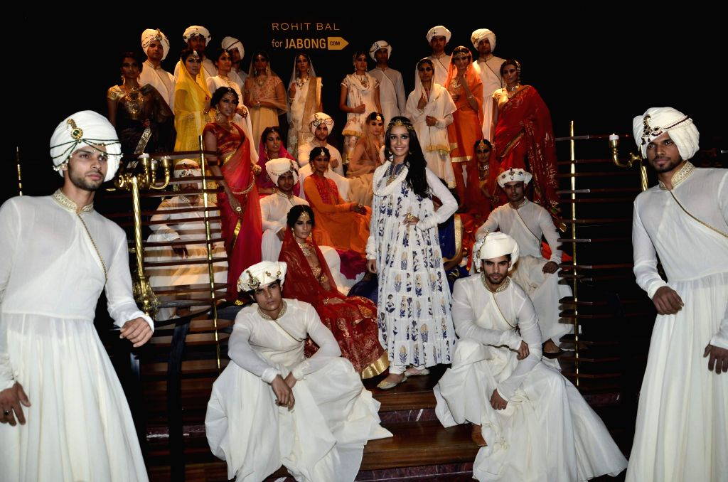 Actress Shraddha Kapoor displays fashion designer Rohit Bal collection for Jabong, in Mumbai on April 15, 2014. - Shraddha Kapoor