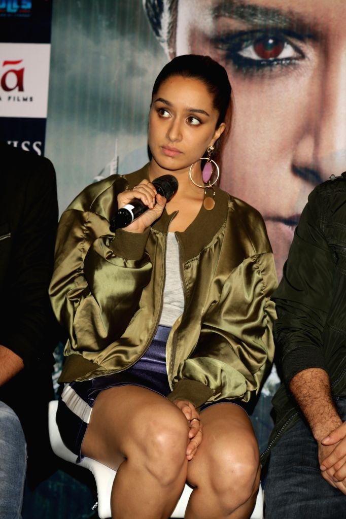 """Actress Shraddha Kapoor during a press conference to promote her upcoming film """"Haseena Parkar"""" in New Delhi on Sept 18, 2017. - Shraddha Kapoor"""