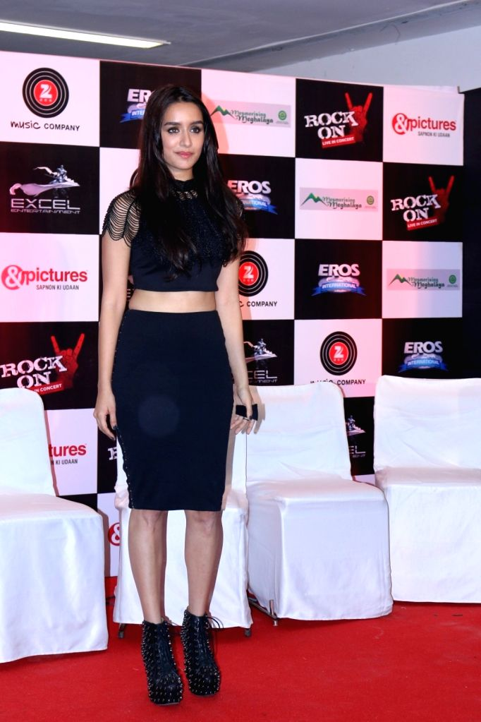 Actress Shraddha Kapoor during the music launch of the movie Rock On 2 in Mumbai on Sept. 17, 2016. - Shraddha Kapoor