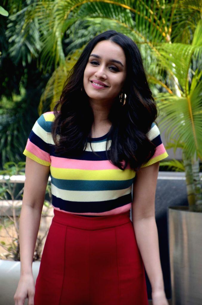 "Actress Shraddha Kapoor during the promotion of her upcoming film ""Haseena Parkar"" in Mumbai on Sept 16, 2017. - Shraddha Kapoor"