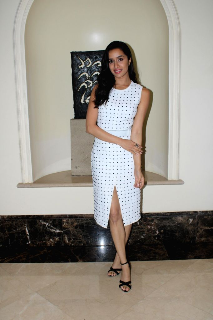 "Actress Shraddha Kapoor during the promotions of her upcoming film ""Saaho"" in Mumbai on Aug 10, 2019. - Shraddha Kapoor"