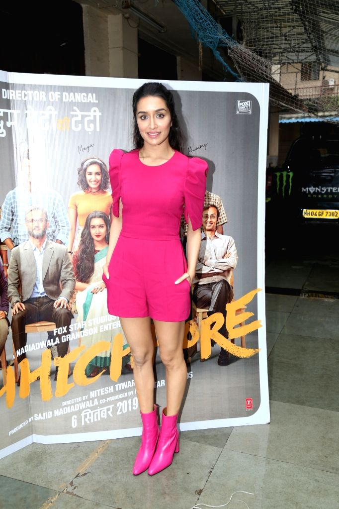 """Actress Shraddha Kapoor during the promotions of his upcoming film """"Chhichhore"""" in Mumbai on Sep 1, 2019. - Shraddha Kapoor"""