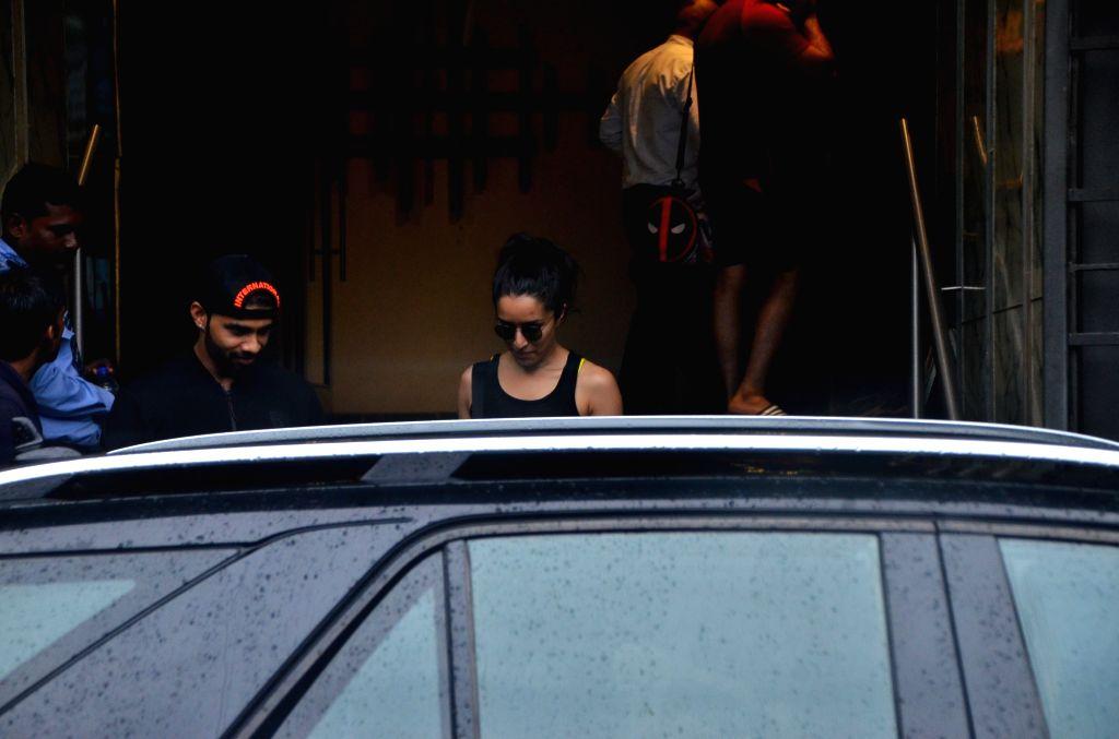 Actress Shraddha Kapoor seen at a gym in Juhu, Mumbai on July 30, 2019. - Shraddha Kapoor