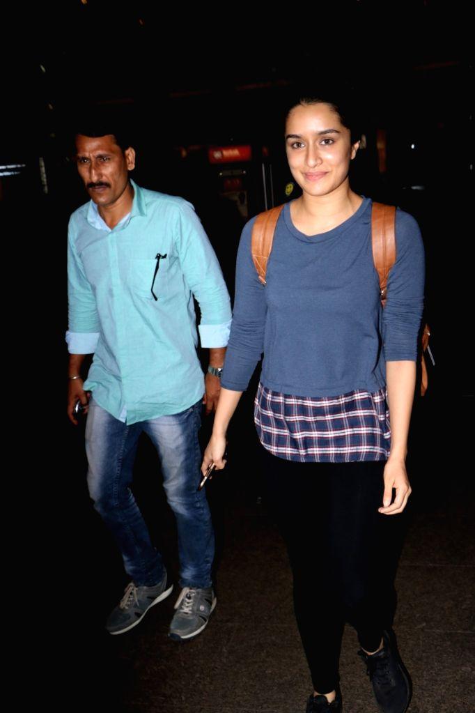 Actress Shraddha Kapoor seen at Chhatrapati Shivaji Maharaj International airport in Mumbai. - Shraddha Kapoor