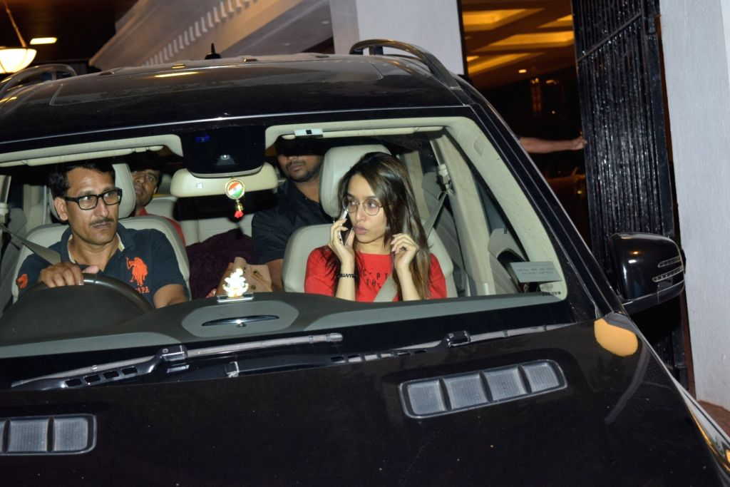 Actress Shraddha Kapoor seen at filmmaker Anand Pandit's residence in Juhu, Mumbai on Nov 21, 2019. - Shraddha Kapoor