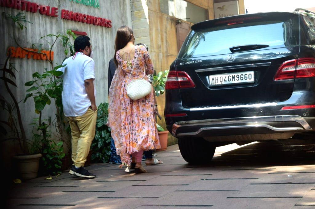 Actress Shraddha Kapoor seen at Juhu in Mumbai on Oct 27, 2020. - Shraddha Kapoor