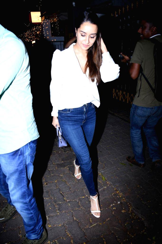 Actress Shraddha Kapoor seen in Mumbai on Oct 31, 2019. - Shraddha Kapoor