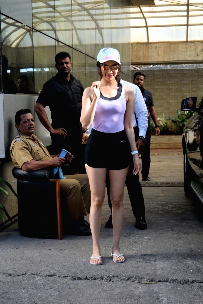 Actress Shraddha Kapoor seen in Mumbai's Andheri, on May 15, 2019. - Shraddha Kapoor