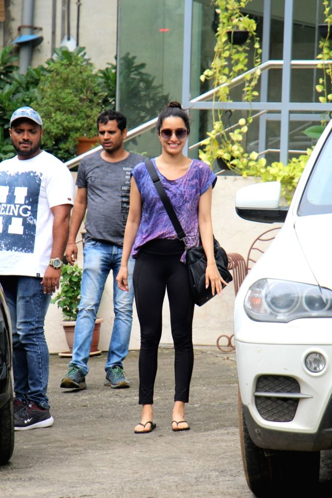 Actress Shraddha Kapoor seen outside her dance class at Andheri in Mumbai, on July 15, 2019. - Shraddha Kapoor