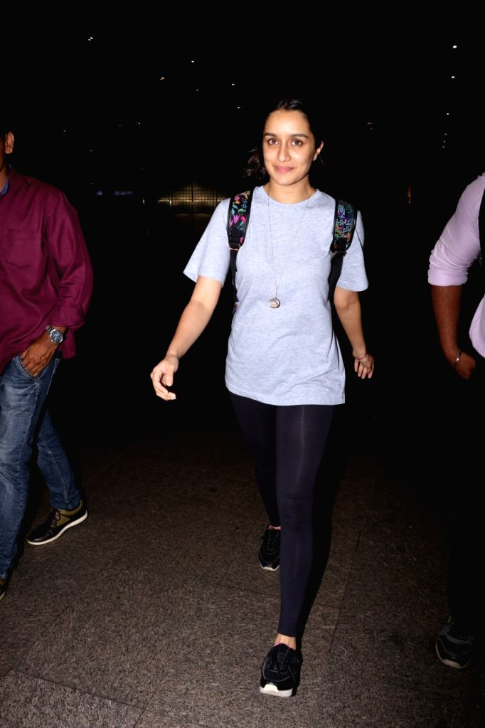 Actress Shraddha Kapoor spotted at Chhatrapati Shivaji Maharaj International airport in Mumbai on Sept 15, 2017. - Shraddha Kapoor