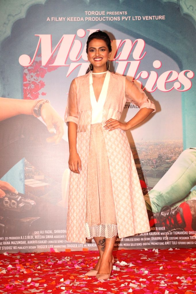 "Actress Shraddha Srinath at the trailer launch of her upcoming film ""Milan Talkies"" in Mumbai, on Feb 20, 2019. - Shraddha Srinath"