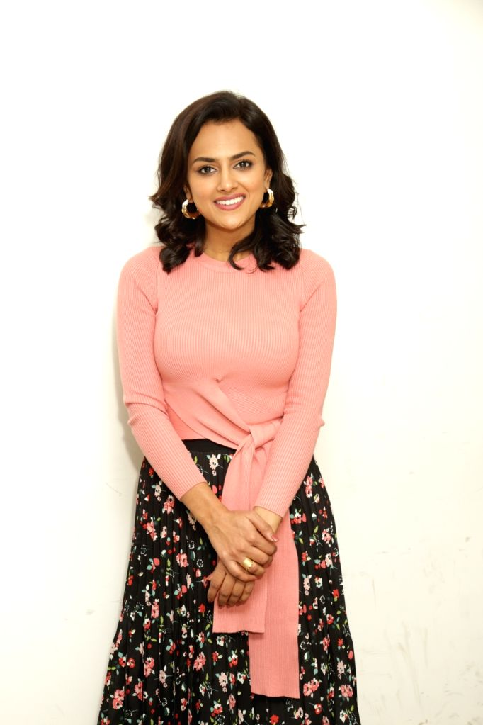 "Actress Shraddha Srinath during an interaction programme ahead of the release of her upcoming film ""Milan Talkies"" at IANS office, in Noida, on March 13, 2019. - Shraddha Srinath"