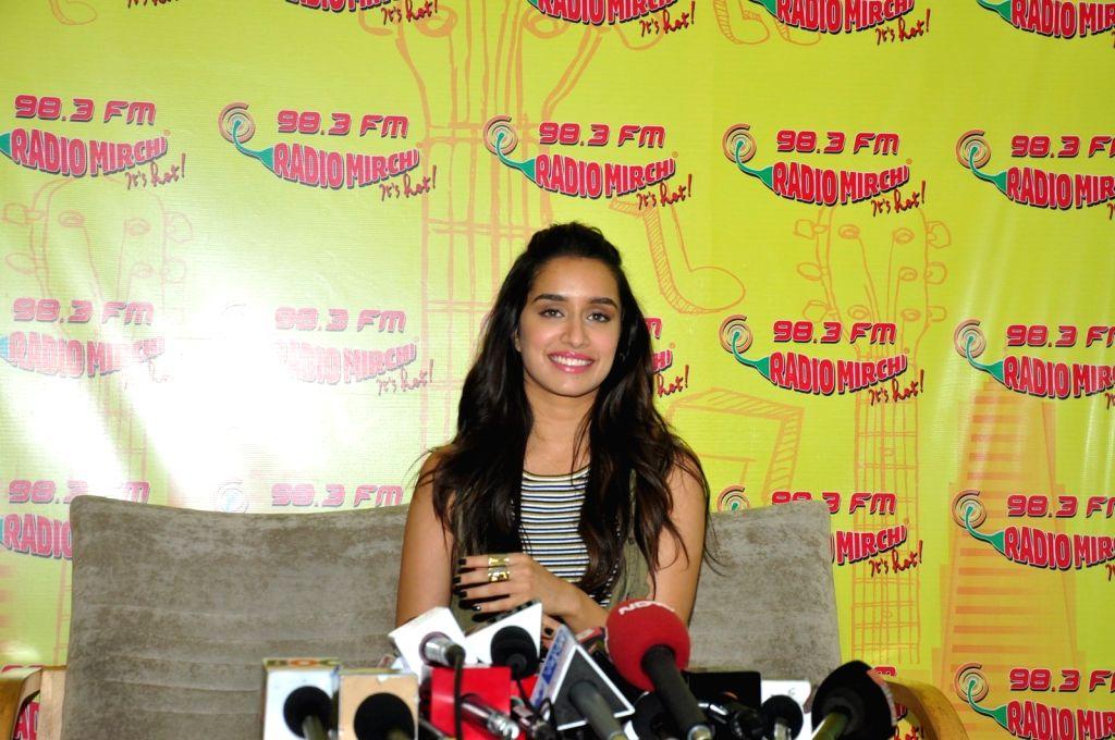 Actress Shradha Kapoor at Radio Mirchi studio to promote her upcoming film Baaghi, in Mumbai, on April 22, 2016. - Shradha Kapoor