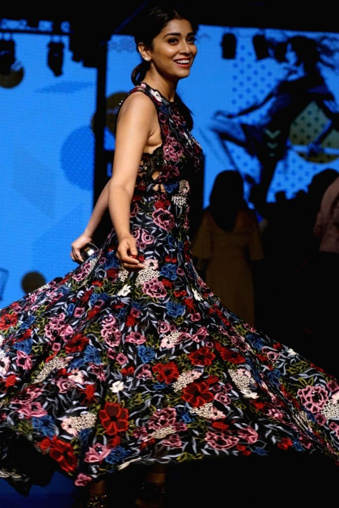 Actress Shriya Saran during the Lakme Fashion Week Winter/Festive 2017 in Mumbai on Aug 20, 2017. - Shriya Saran