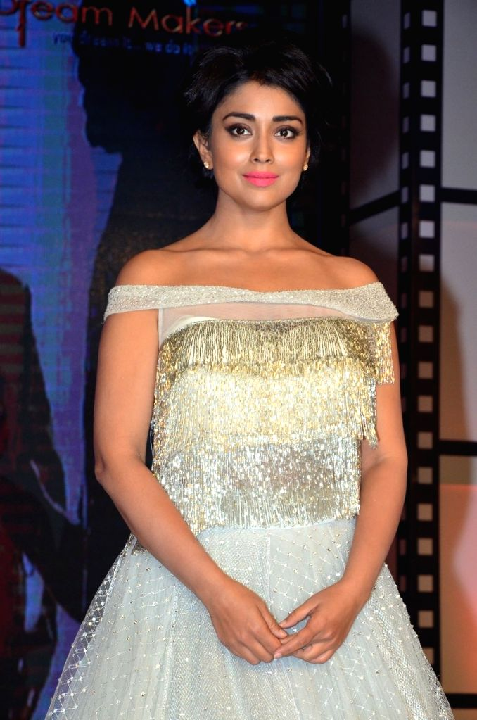 Actress Shriya Saran during the movie auido launch of film Chicago on Hyderabad, July 05, 2017. - Shriya Saran