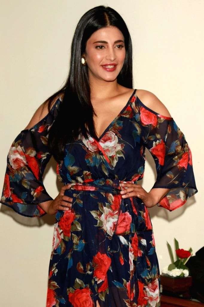 "Actress Shruti Haasan during a press conference to promote her upcoming film ""Behen Hogi Teri"" in New Delhi on May 31, 2017. - Shruti Haasan"