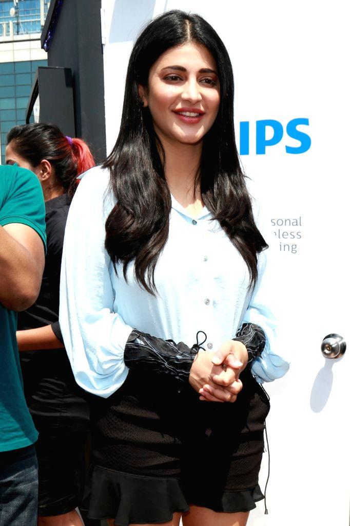 Actress Shruti Hassan during a promotional programme in Gurugram on June 9, 2017. - Shruti Hassan