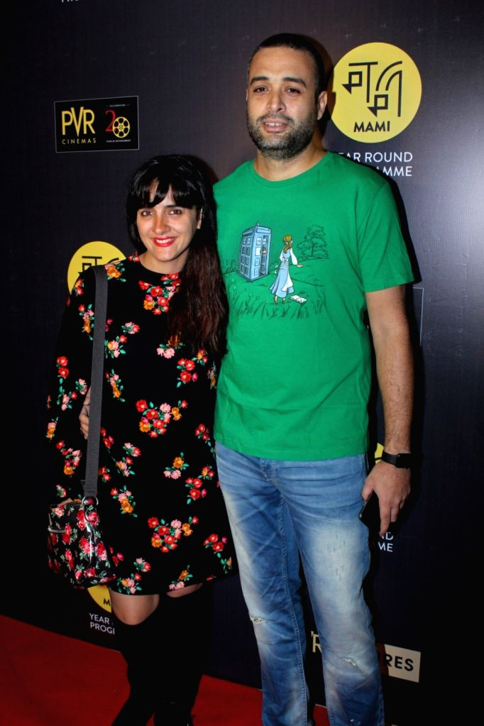 "Actress Shruti Seth along with her husband director Danish Aslam during the red carpet of Hollywood film ""All The Money In The World"" in Mumbai, on Dec 29, 2017. - Shruti Seth"