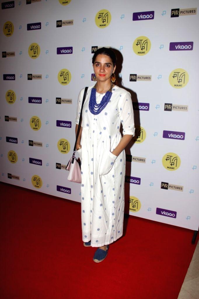 Actress Shruti Seth at Red Carpet Screening of the film Zookeepers Wife in Mumbai on April 18, 2017. - Shruti Seth