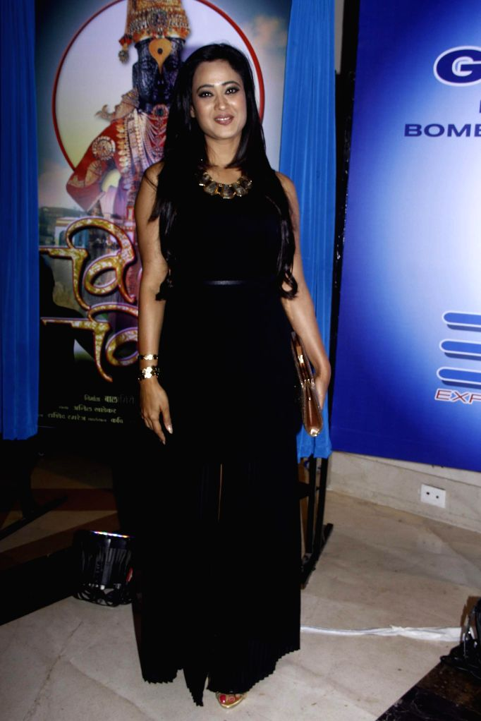 Actress Shweta Tiwari during the 25 years celebration of G.V Films and launch of its new website, in Mumbai on Aug 01, 2015. - Shweta Tiwari