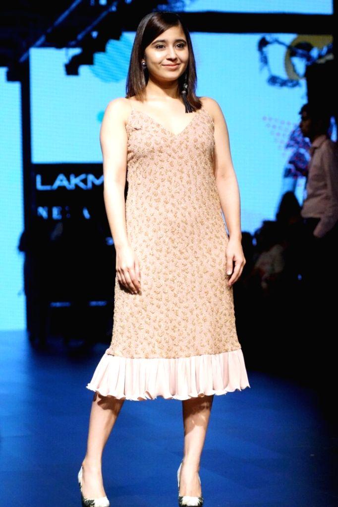 Actress Shweta Tripathi during the Lakme Fashion Week Wintwer 2017 in Mumbai on Aug 16, 2017. - Shweta Tripathi