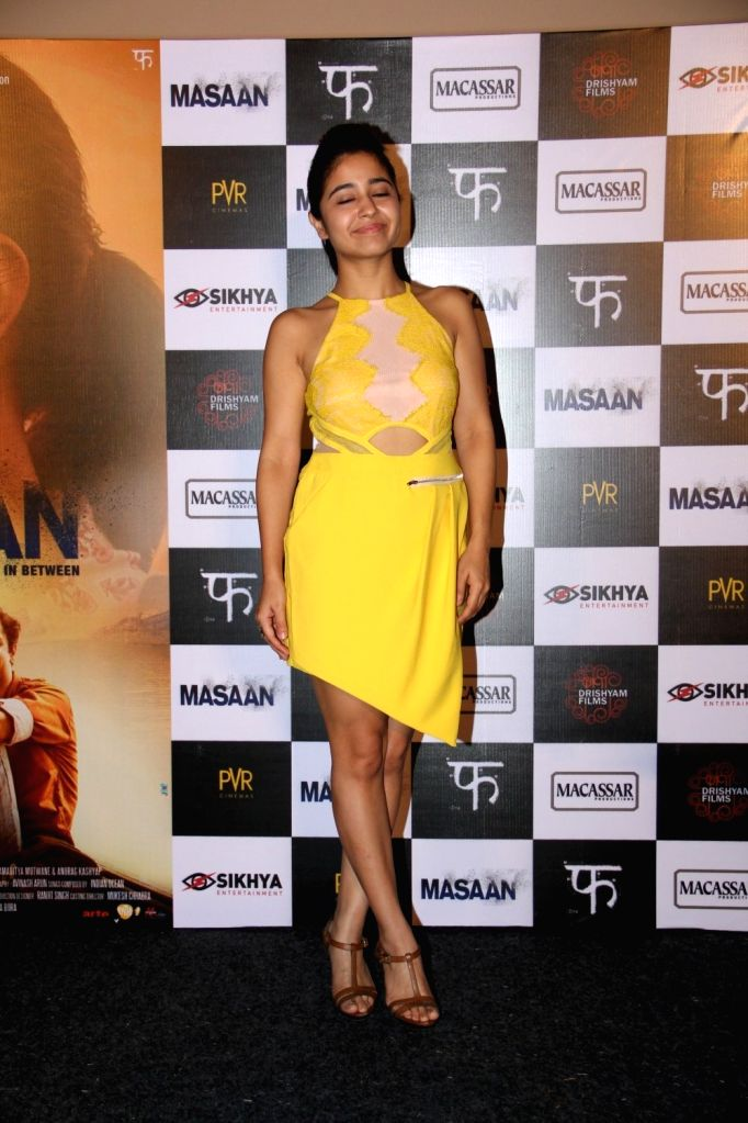 Actress Shweta Tripathi during the trailer launch of film Masaan in Mumbai, on June 26, 2015. - Shweta Tripathi