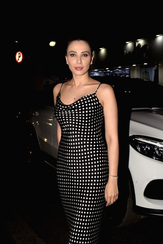 Actress-singer Iulia Vantur seen at Mumbai's Juhu on Feb 22, 2019.