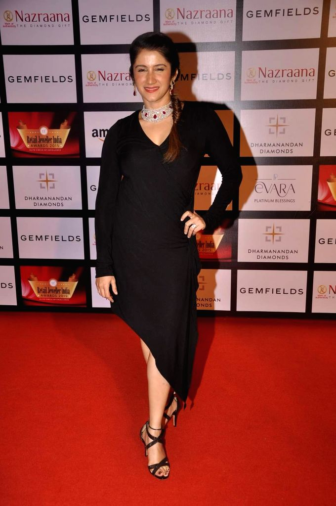 Actress Smiley Suri during the Gemfields and Nazraana Retail Jeweller India Awards 2015, in Mumbai, 2015. - Smiley Suri