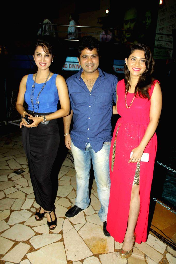 Actress Smita Gondkar and Sonalee Kulkarni during the trailer and music launch of film Shutter in Mumbai, on June 24, 2015. - Smita Gondkar and Sonalee Kulkarni