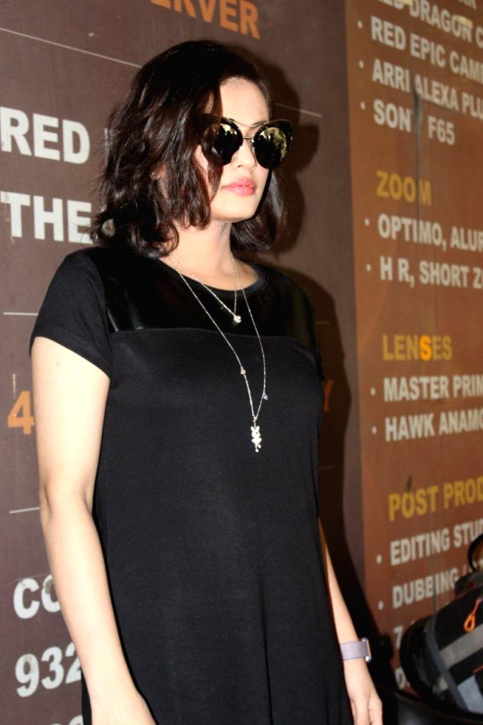 "Actress Sneha Ullal during a press conference regarding song ""Ishq Wali Baarish"" in Mumbai. - Sneha Ullal"