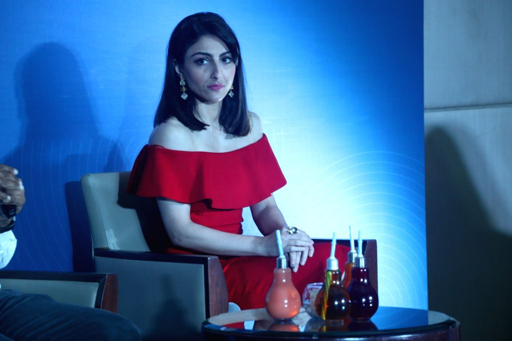 Actress Soha Ali Khan at the launch of  'Anti-Bac LED bulb', in Mumbai, on May 9, 2019. - Soha Ali Khan