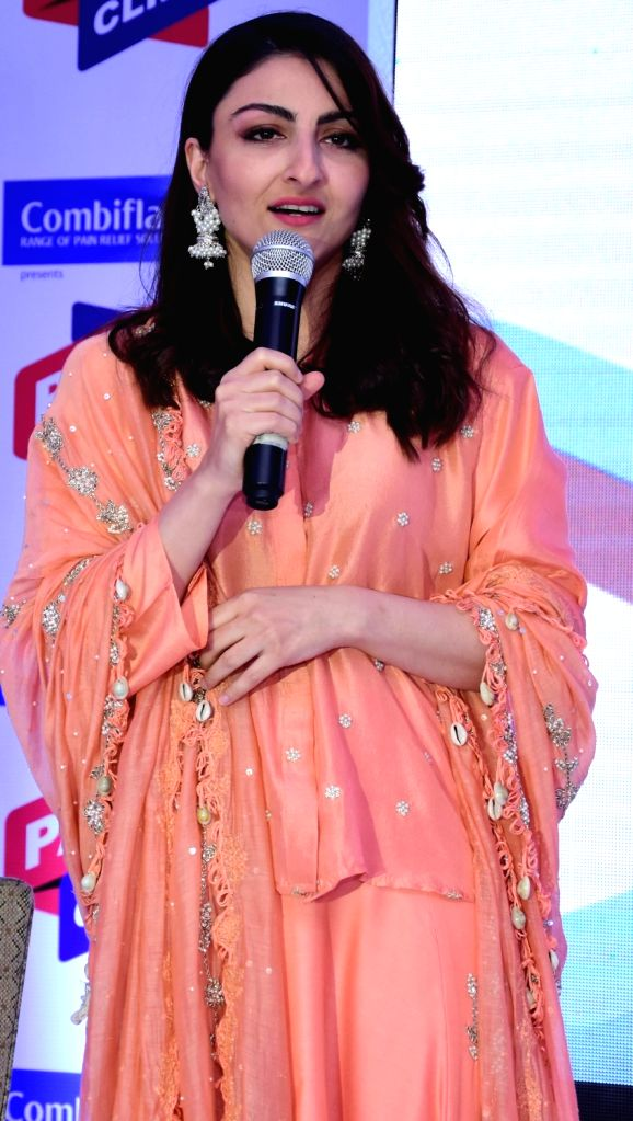 Actress Soha Ali Khan during a press conference in Lucknow on June 11, 2018. - Soha Ali Khan