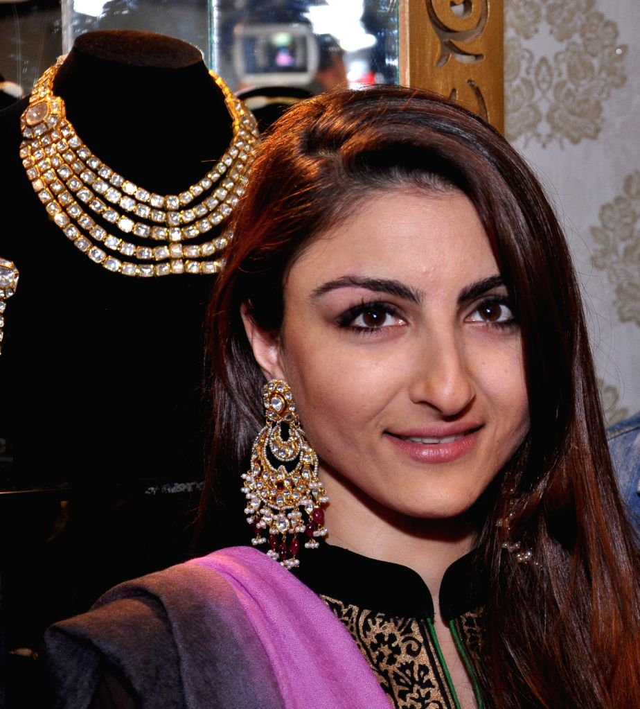 Actress Soha Ali Khan during her visit to 11th Jaipur Jewellery Show in Jaipur on Dec.22, 2013.