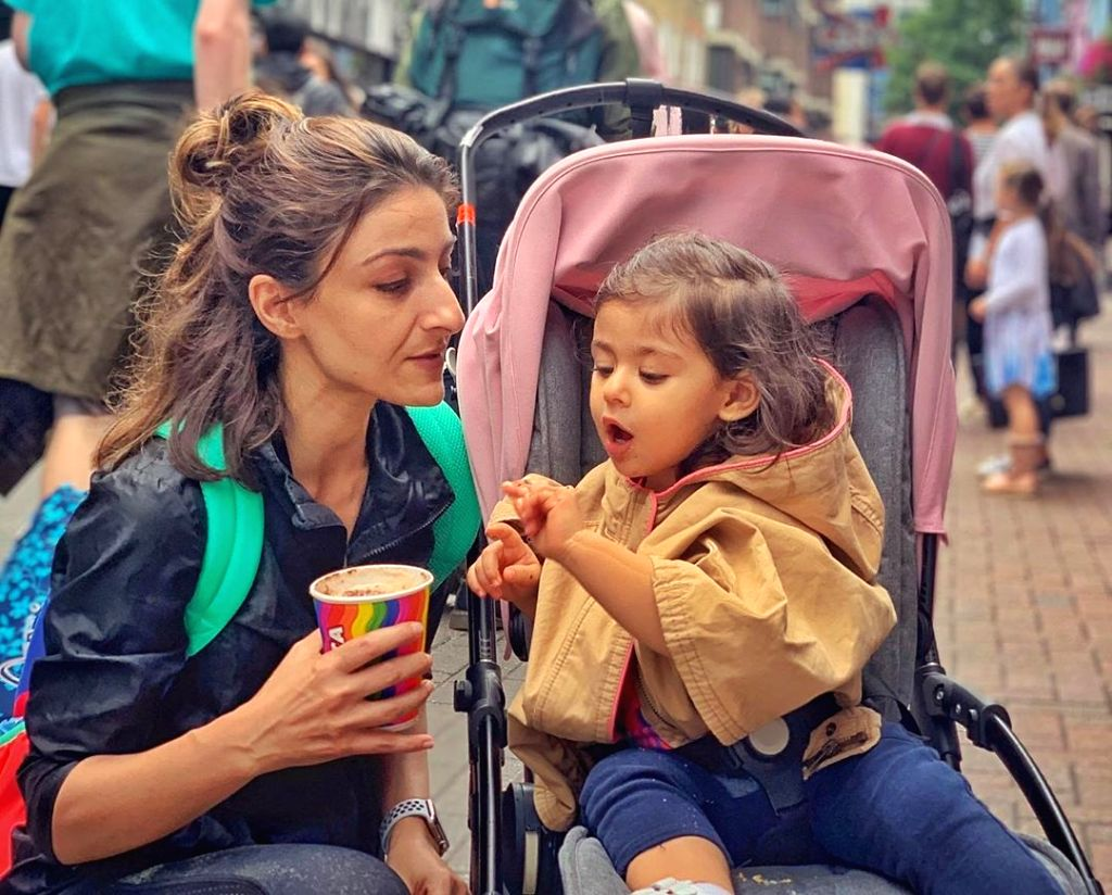 Actress Soha Ali Khan has said her daughter Inaaya is crazy about lipstick. She added that her daughter tries to imitate whatever she is doing when it comes to fashion. - Soha Ali Khan
