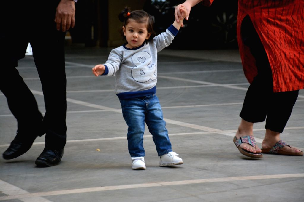 Actress Soha Ali Khan's daughter Inaaya Naumi Kemmu seen at Mumbai's Bandra on Feb 9, 2019. - Soha Ali Khan