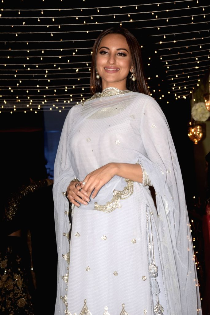 Actress Sonakshi Sinha at her friend's wedding reception in Mumbai, on Feb 16, 2019. - Sonakshi Sinha