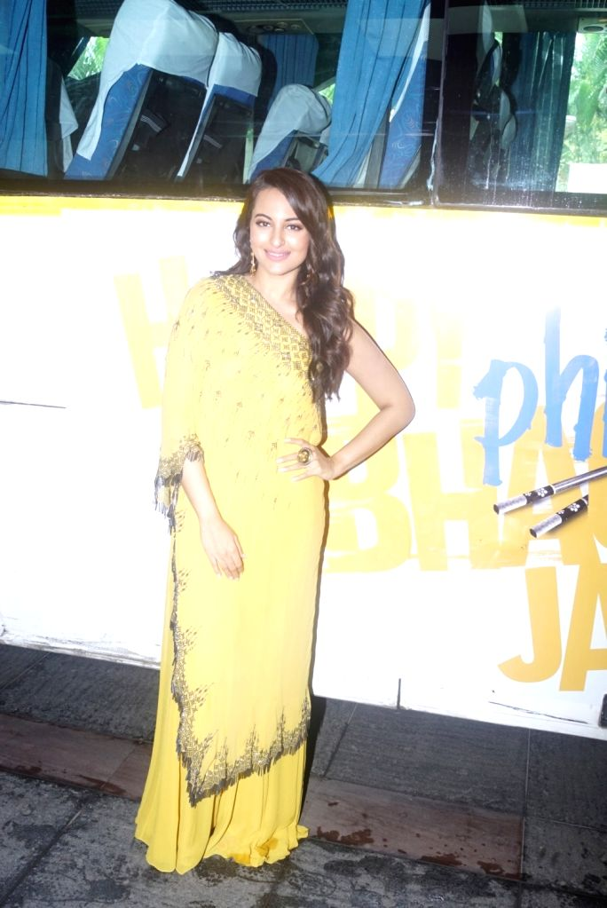 "Actress Sonakshi Sinha at the trailer launch of her upcoming film ""Happy Phirr Bhag Jayegi""  in Mumbai on July 25, 2018. - Sonakshi Sinha"