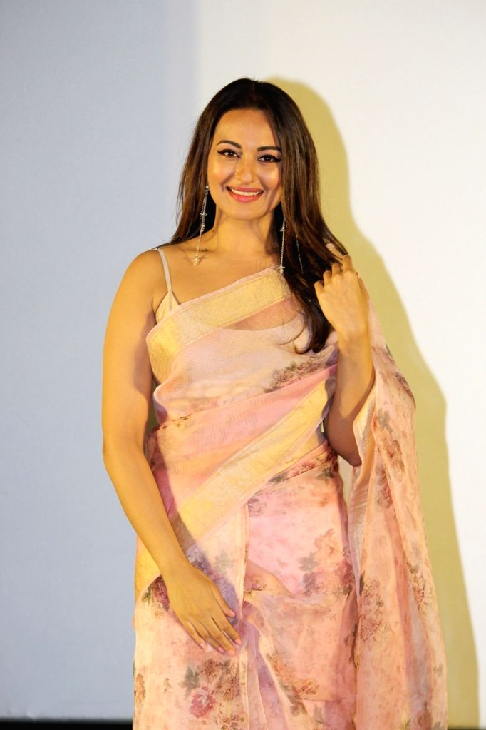 """Actress Sonakshi Sinha at the trailer launch of her upcoming film """"Mission Mangal"""" in Mumbai, on July 18, 2019. - Sonakshi Sinha"""