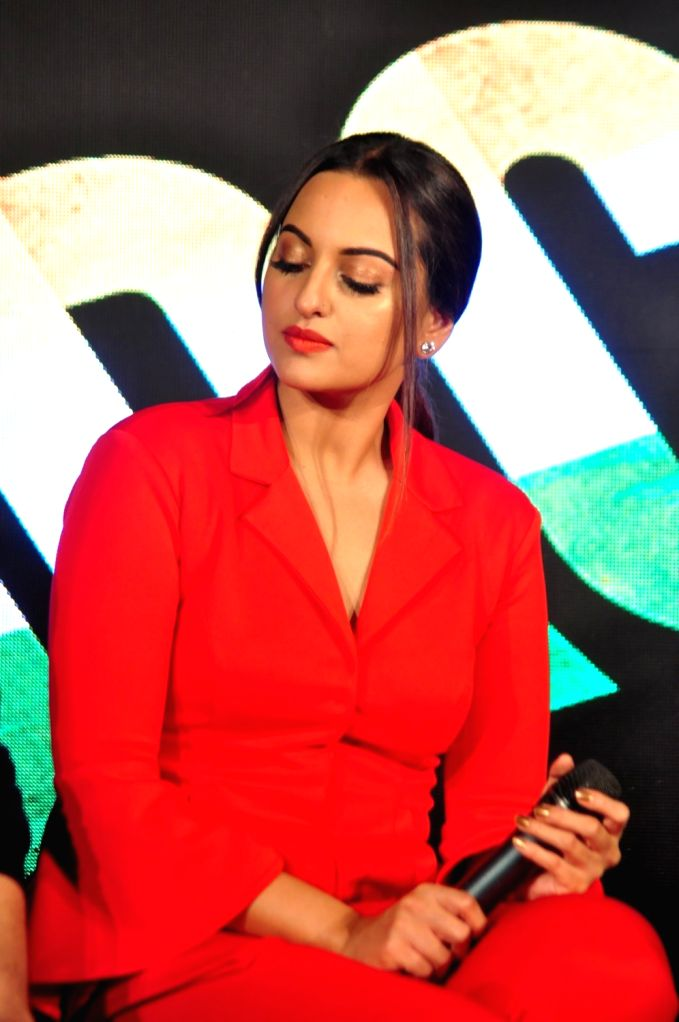 Actress Sonakshi Sinha during the launch of promotional video titled Rang Laal for film Force 2 in Mumbai on Oct 21, 2016. - Sonakshi Sinha