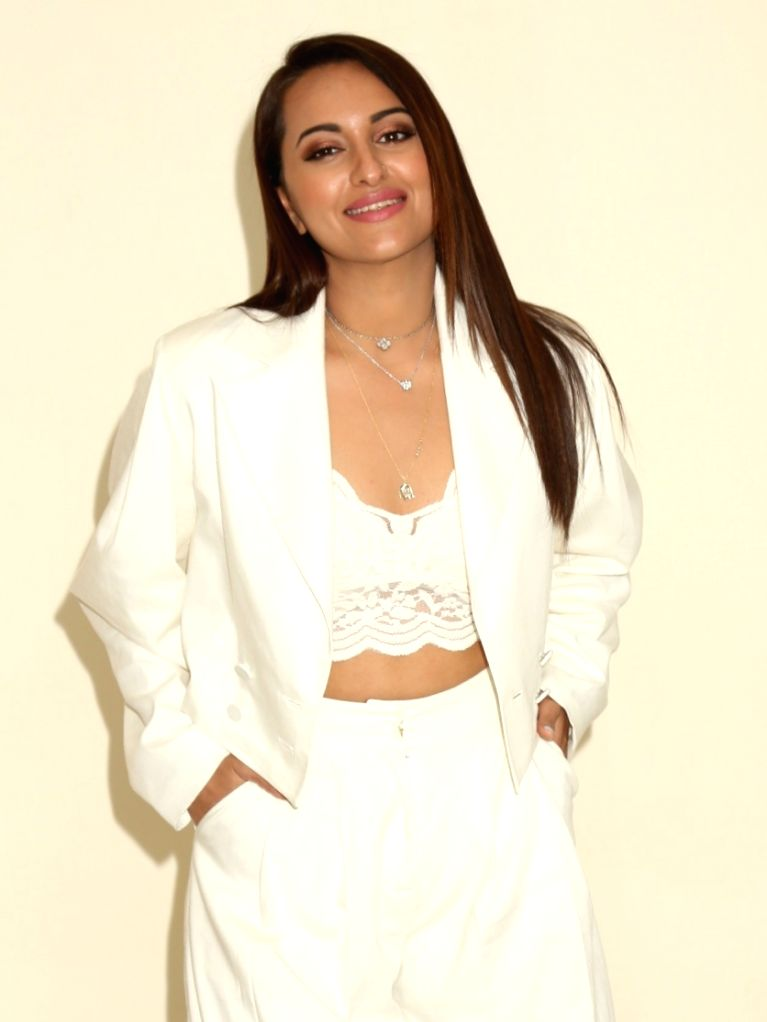"Actress Sonakshi Sinha during the promotions of her upcoming film ""Khandaani Shafakhana"", in New Delhi on July 30, 2019. - Sonakshi Sinha"