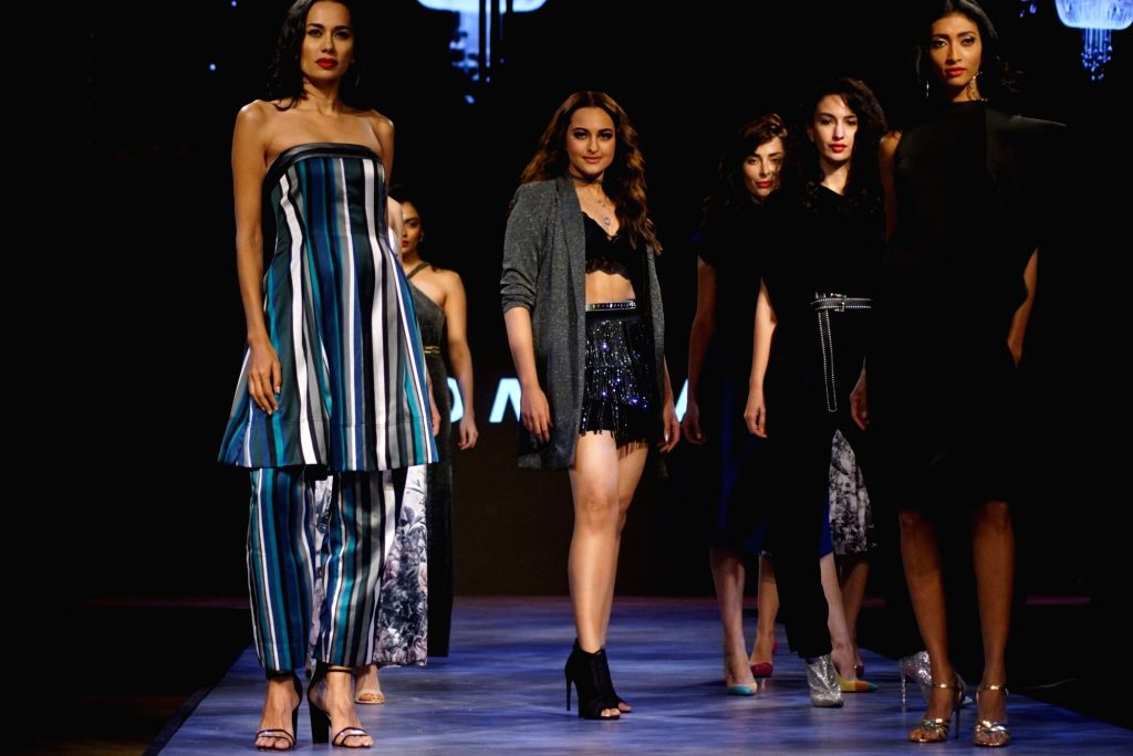 Actress Sonakshi Sinha walks the ramp for fashion brand Vero Moda at AW'18 collection in Mumbai on Aug 8, 2018. - Sonakshi Sinha