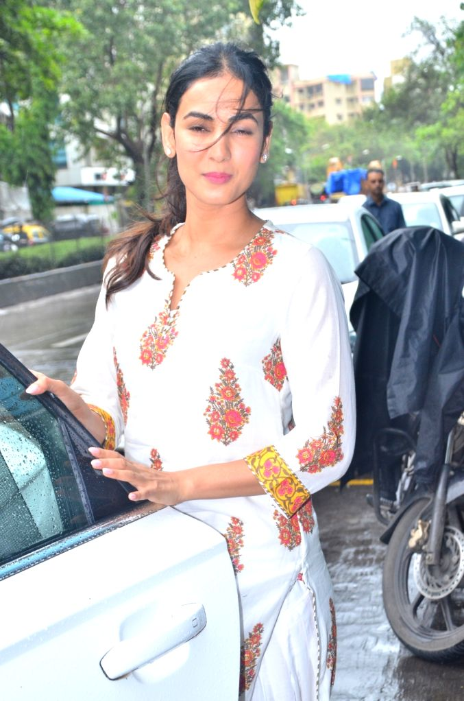 Actress Sonal Chauhan seen at casting director Mukesh Chabra's office, in Mumbai on July 29, 2019. - Sonal Chauhan