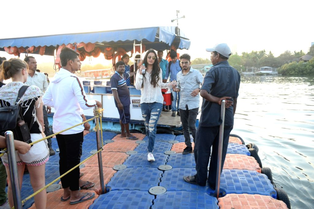 Actress Sonal Chauhan seen in Mumbai's Versova, on April 11, 2019. - Sonal Chauhan