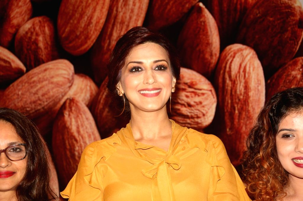 Actress Sonali Bendre during a programme in Mumbai, on March 28, 2018. - Sonali Bendre