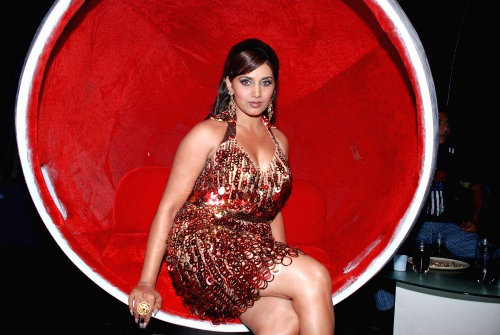 "Actress Sonali Kulkarni shoots for film ""Kab Tak""."